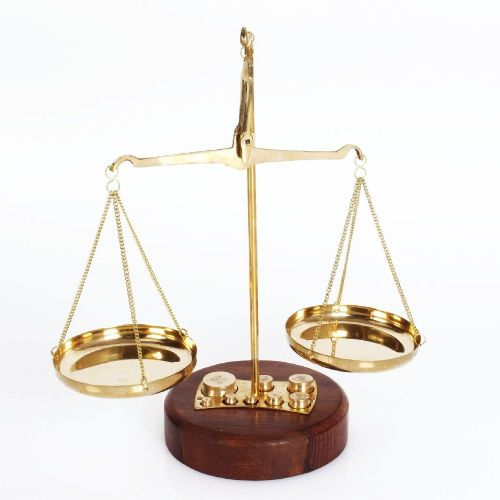 Brass Weighing Scales Gift For Men - Retro Old Fashioned Desk Accessory